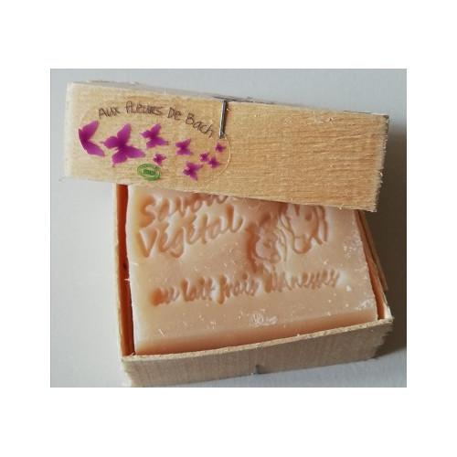 Savon Parfum doux Lait d'Anesse (Amande & Karité) avec boite en bois