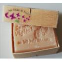 Savon Parfum doux au choix Lait d'Anesse (Amande & Karité) avec boite en bois