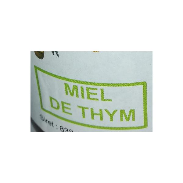 Miel de petit producteur - THYM - Pot en verre 250 g
