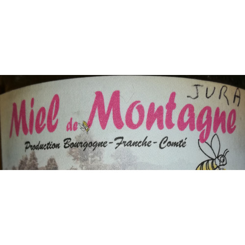 MIEL DE MONTAGNE - Haut Jura - de petit producteur - Pot en verre 500 g