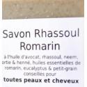 Savon 2 en 1 - SHAMPOING solide cheveux Normaux à Gras & corps - RHASSOUL ROMARIN 100 g