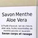 Savon 2 en 1 - RASAGE & corps - MENTHE ALOE VERA 100 g