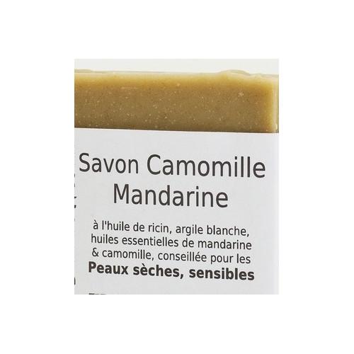 Savon CAMOMILLE MANDARINE 100 g enrichi à l'Huile de Noyau d'Abricot