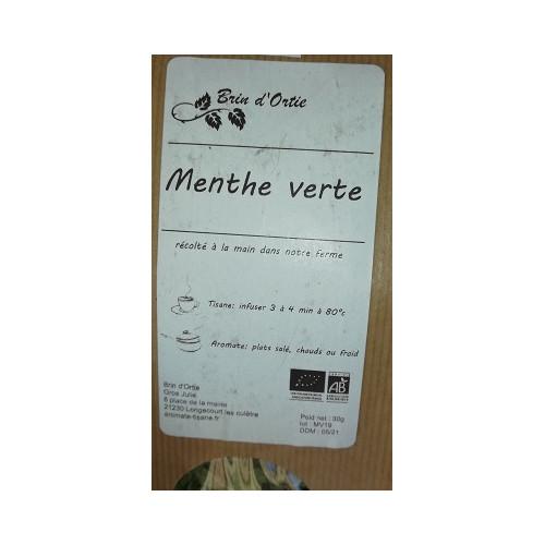 Plante séchée - MENTHE VERTE 30 g