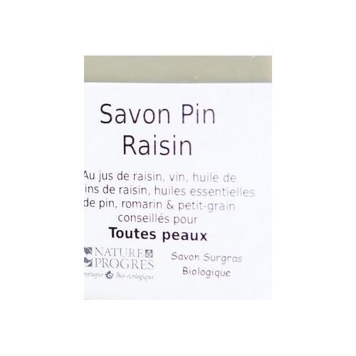 Savon PIN RAISIN 100 g enrichi à l'Huile de Pépins de raisin, vin rouge et jus de raisin