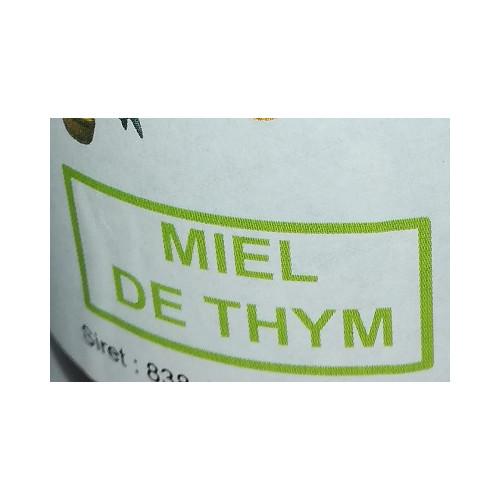 Miel de petit producteur - THYM - Pot en verre 500 g