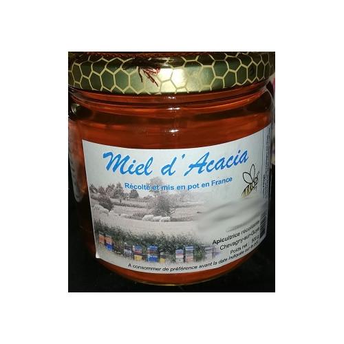 Miel de petit producteur - ACACIAS - Pot en verre 500 g