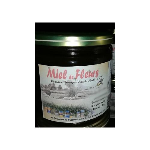 Miel de petit producteur - TOUTES FLEURS LIQUIDE - Pot en verre 500g