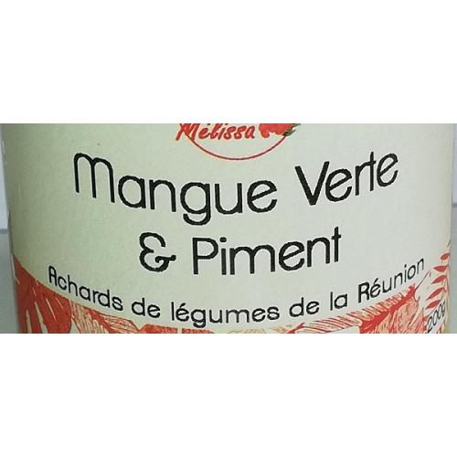ACHARDS Papaye verte et Piment de la Réunion 200 g Cuisine réunionnaise de la Réunion 100 g