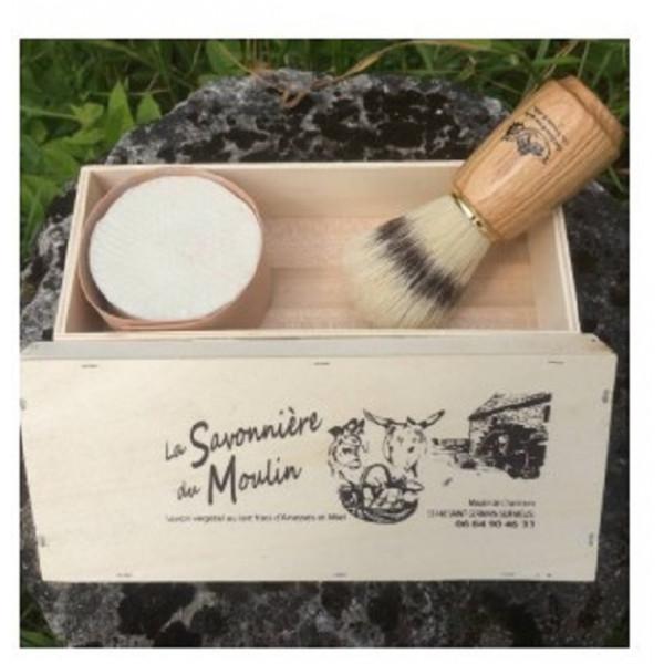 COFFRET CADEAU Savon RASAGE 30 % Lait d'Anesse Nature ou parfumé (& à l'Huile d'Argan)
