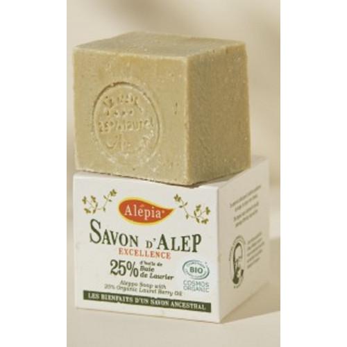 SAVON D'ALEP BIO 25 % d'Huile de Baie de Laurier 190 g