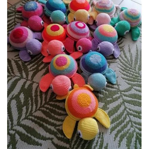 Doudou en crochet - Forme TORTUE Grand format