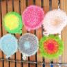 Gratounette multicolore en crochet - pour vaisselle ou nettoyer les petites surfaces sans rayer