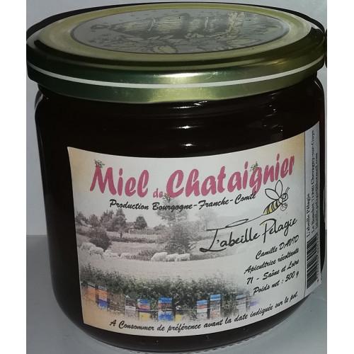 Miel de petit producteur - CHATAIGNIER en verre 500 g