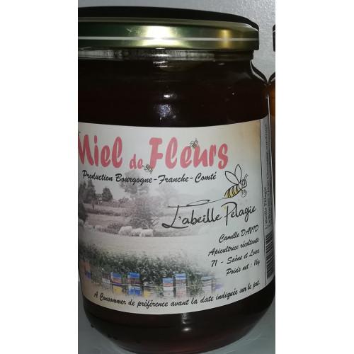 Miel de petit producteur - TOUTES FLEURS - Pot en verre 1 kg