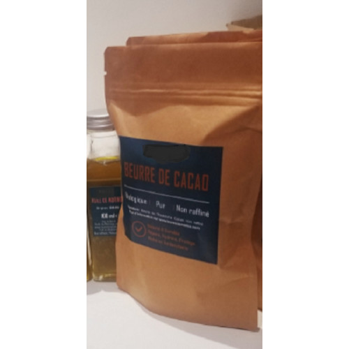 Beurre de cacao non raffiné ALEPIA 90g 100 ml COMMERCE EQUITABLE