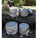 Bougie anti moustique parfumée à la citronnelle 80 g artisanale de bourgogne - pot métal avec couvercle