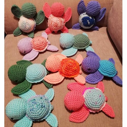 Doudou en crochet - Forme TORTUE Mini format