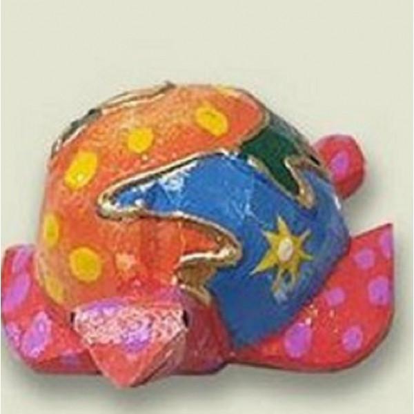 Sculpture de TORTUE - Peinte à la main - motifs abstraits