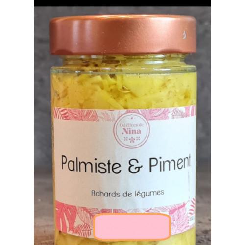ACHARDS PALMISTE et Piment de la Réunion 200 g Cuisine réunionnaise de la Réunion 100 g