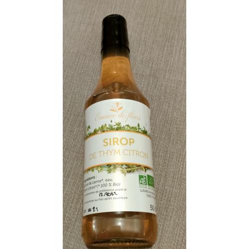 SIROP DE PLANTES BIO - Thym citron - flacon 50 cl