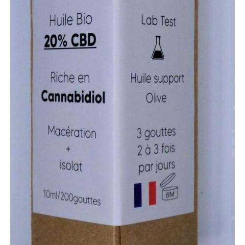 Huile 20% CBD bio