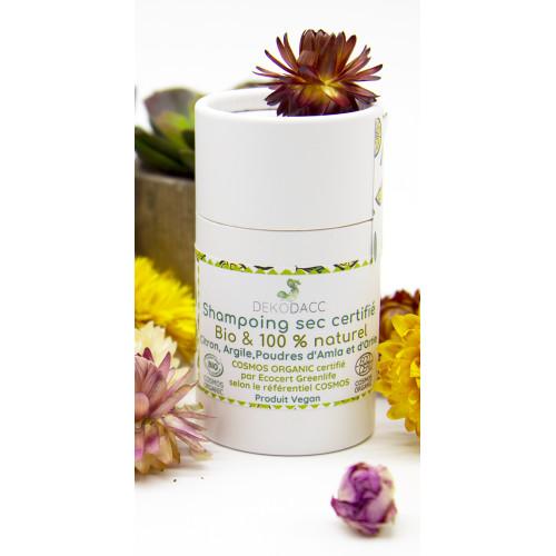 shampoing sec en poudre - 100% artisanal - 100% fabriqué en France - Massif Central - Auvergne - distribué par LE COMPTOIR DE BE