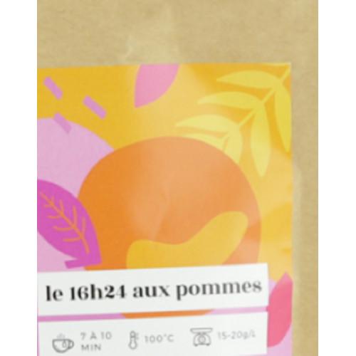 16H24 aux pommes Sachet Kraft 100 g Thé ROOIBOS ROUGE, Pomme, Cannelle, Vanille Bourbon, Raisin-