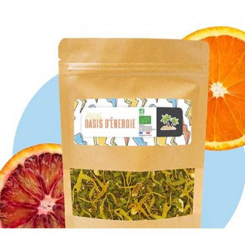"Maté vert Oranges Sanguines ""OASIS D'ENERGIE""- Sachet Kraft 60 g"
