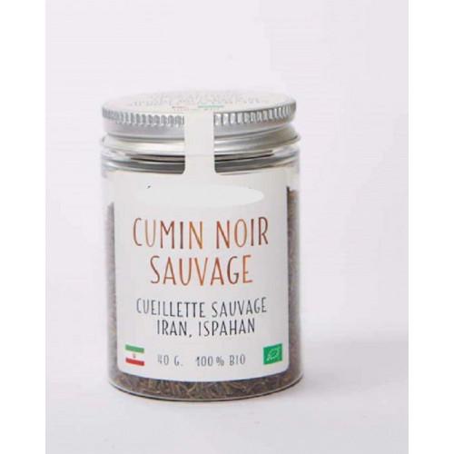Epices - Graines de CUMIN NOIR d'IRAN– bio et sauvage - Pot en verre 40 g Bunium Persicum