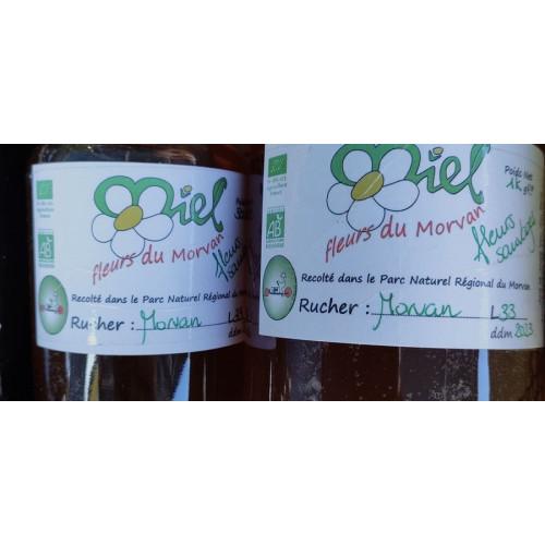 Miel de petit producteur - Toutes fleurs Forets - LES SETTONS - Pot en verre 500 g